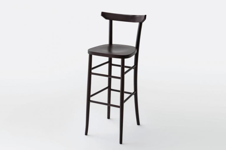 L sgabello con schienale sgabelli in legno e sedie di design